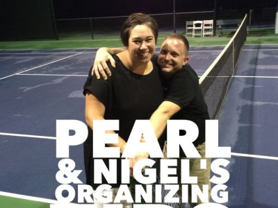 Pearl and Nigel Hampton. My naturally organized friends.