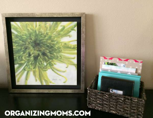 Display finished photo albums for all to enjoy after completing your photo organization project.