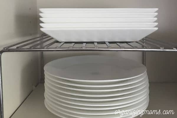 plate shelf in kitchen cabinet