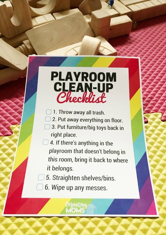 playroom cleanup checklist