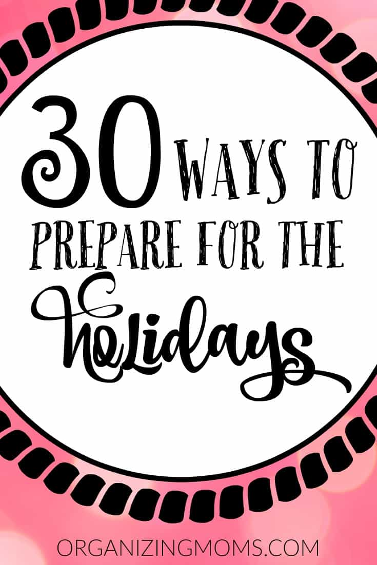 31 Days of Preparing for the Holidays
