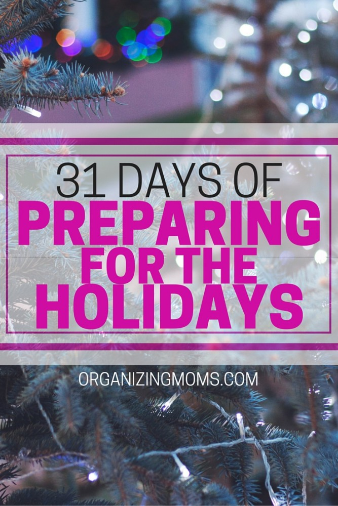 Prepare for the holidays, and have less stress during the holiday season. Gift ideas, organization, meal planning, decorations, and creating simple traditions.