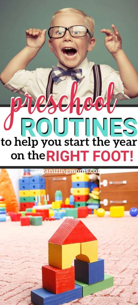 how to create back to school routines for preschoolers