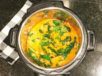pressure cooker coconut chicken curry