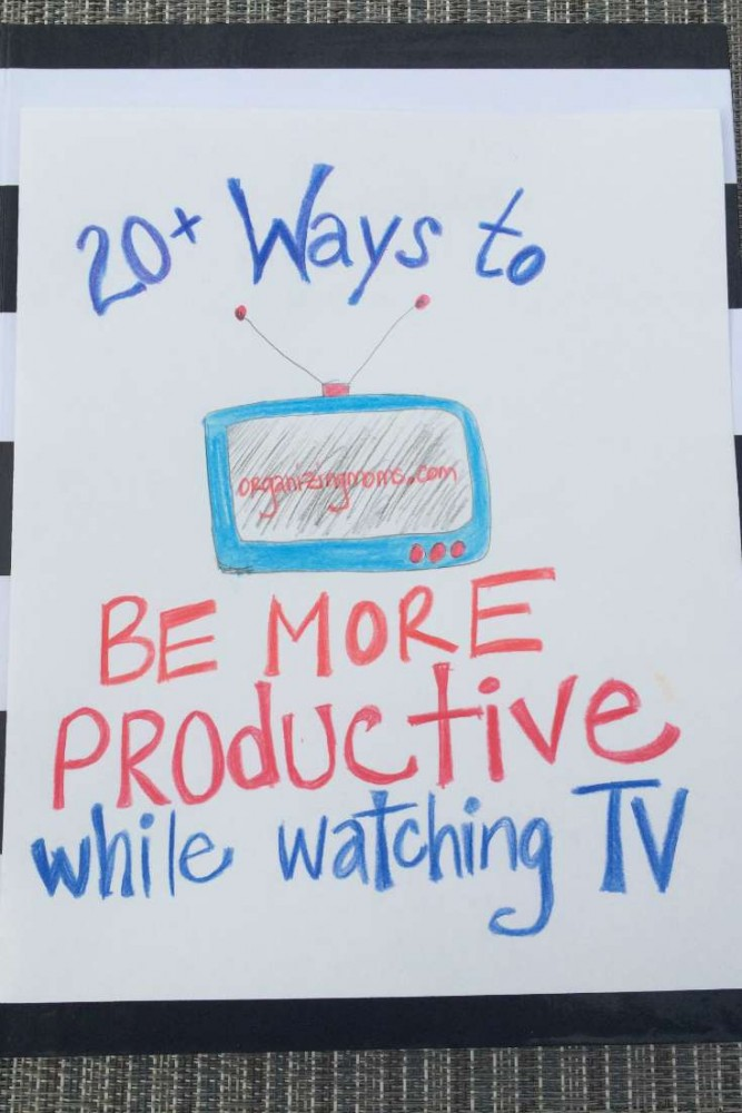 Productive things to do while watching TV. 20+ things you can do to be productive when you're tired, brain-dead, and still want to be productive.