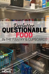 Do you keep passing over the same box of cereal because you're not sure if it's still edible? Concerned about the whole wheat flour that expired in 2008? Get rid of iffy food in your pantry. Do a quick pantry declutter! Part of the Get Rid of It! Decluttering Challenge.
