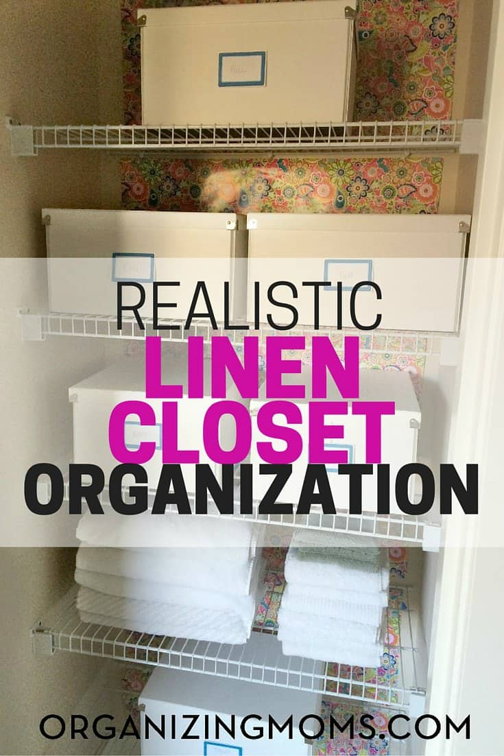 Want to get your linen closet in order? Here's a realistic linen closet organization plan that's budget-friendly, simple, and easy-to-maintain.