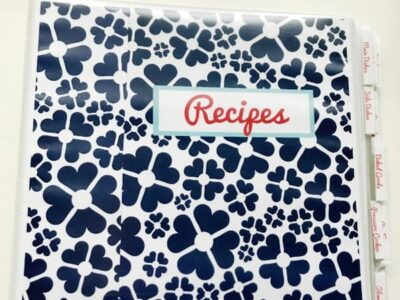 These beautiful recipe binder printables help you organize all of your favorite recipes in one place.