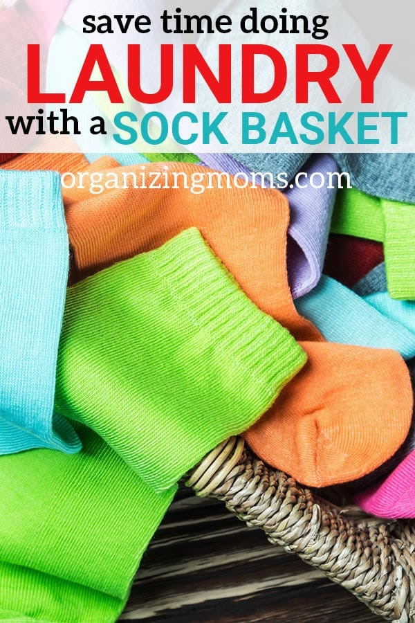 Save time doing laundry with the sock basket. Why you should be using a sock basket to save time and get organized.