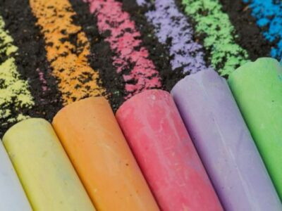summer supplies sidewalk chalk