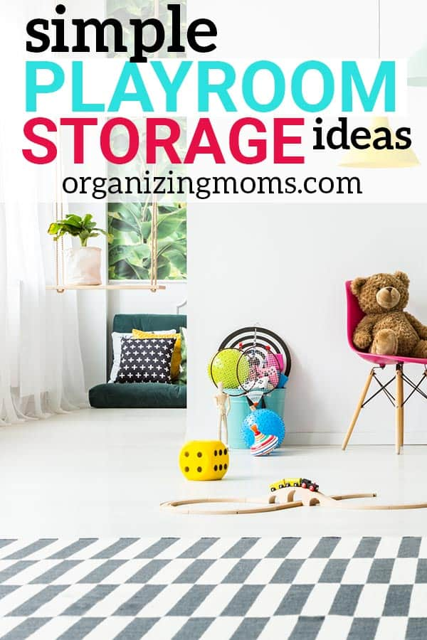 Incredible playroom storage ideas that are realistic, easy, and so SMART! I'm definitely going to use some of these simple playroom organization ideas!