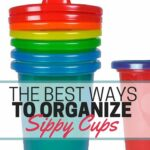 How to organize sippy cups so they're not taking over your kitchen. Several great ideas for organizing sippy cups you have, plus the system that finally worked for us. Stop the sippy cup madness!