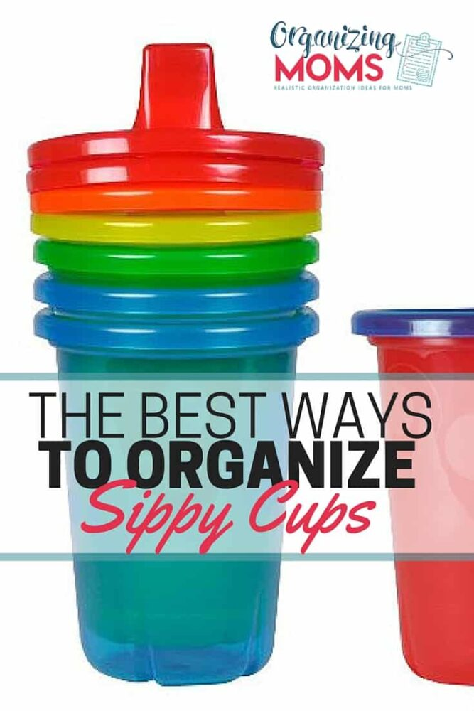 how to organize sippy cups