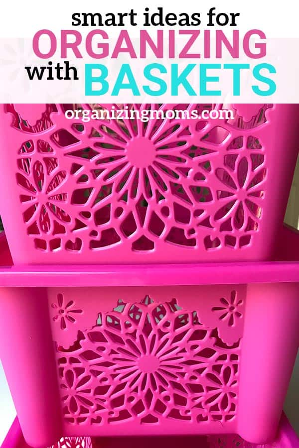 Organizing with baskets for your whole home. Pretty ways to use baskets to organize each room in your house.