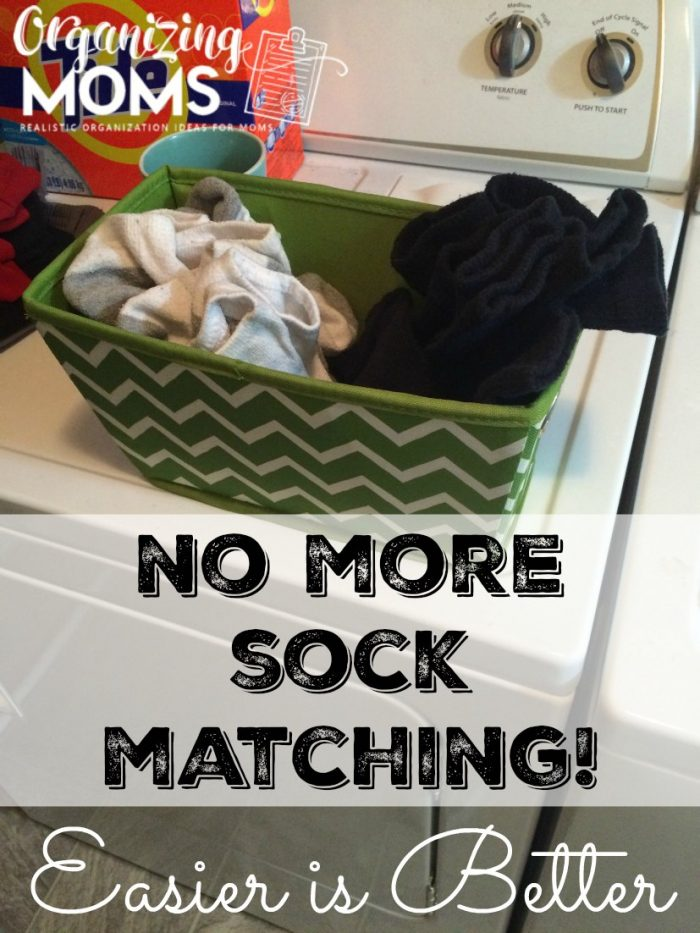 Stop the sock matching! Easier is better. Here's a simple solution to the sock matching and folding time suck.
