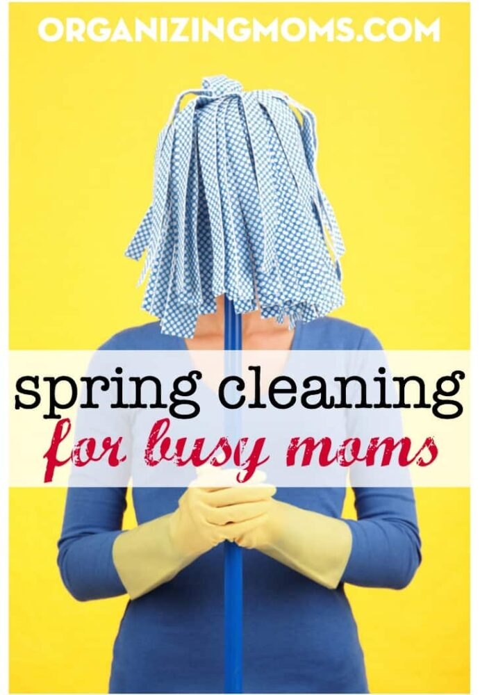 Spring Cleaning for Busy Moms. Realistic spring cleaning tasks for moms that don't have a ton of time to dedicate to cleaning.