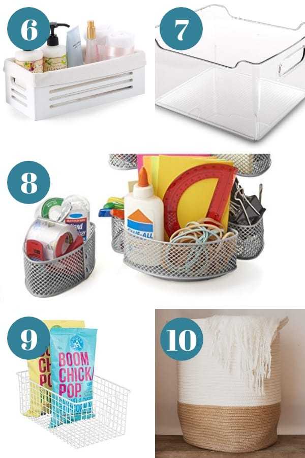 Organizing with Baskets - The best organizing baskets to help you tidy up your entire home.