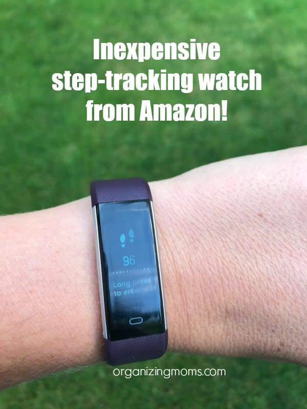 inexpensive step tracker watch from Amazon