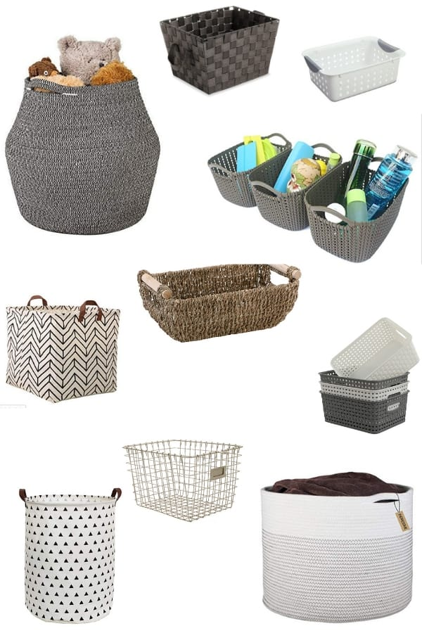 Storage baskets that won't break the bank from Amazon.