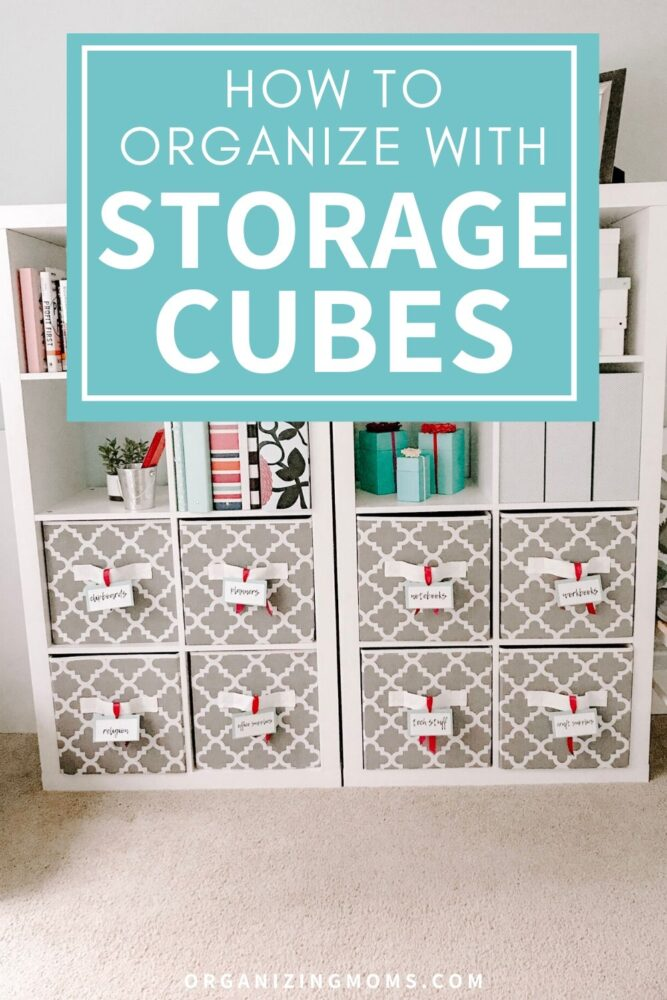 how to organize with storage cubes