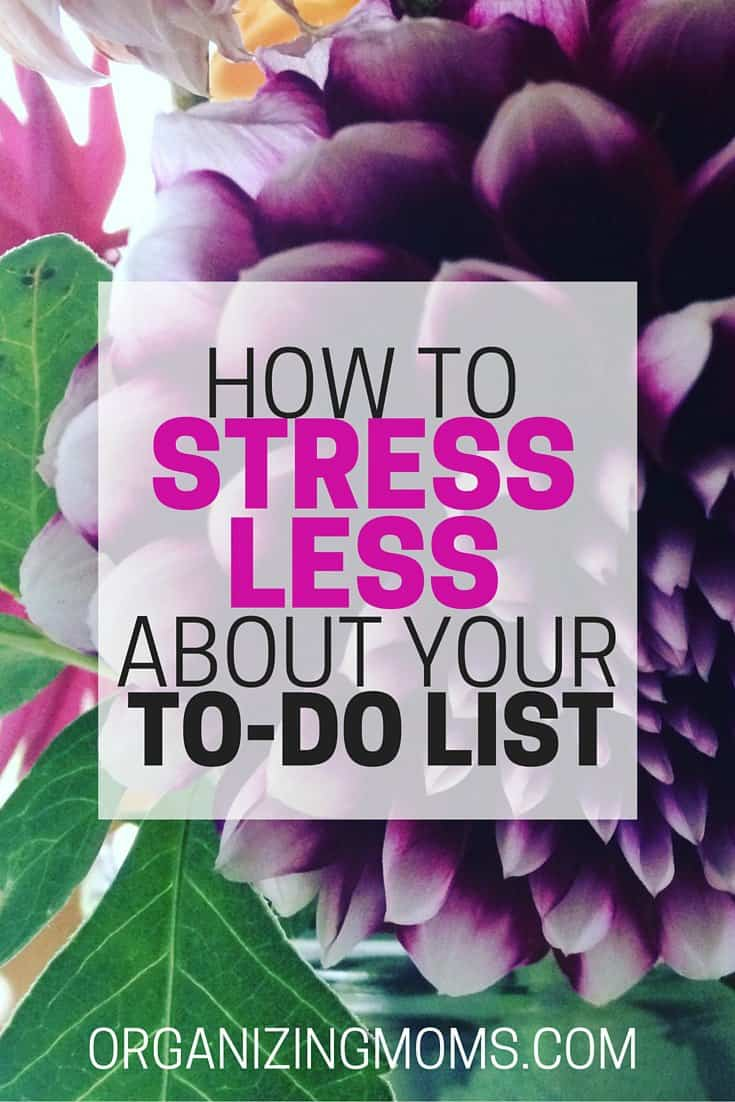 stress less about to do list
