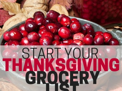Get ready for Thanksgiving by starting your thanksgiving grocery list now! Snag the good deals, and save yourself time.