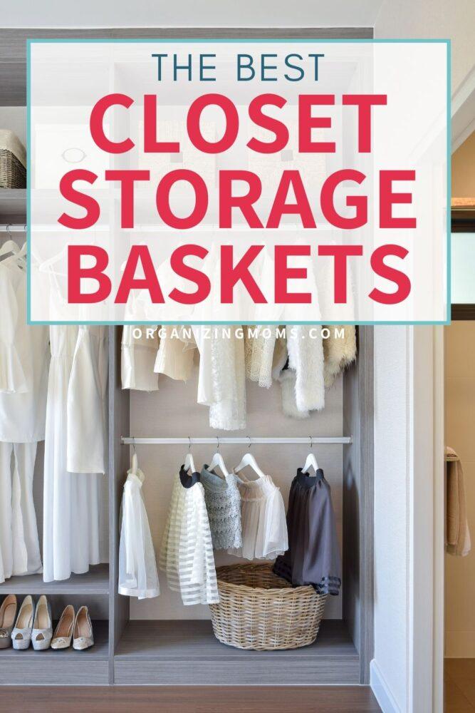 the best closet storage baskets