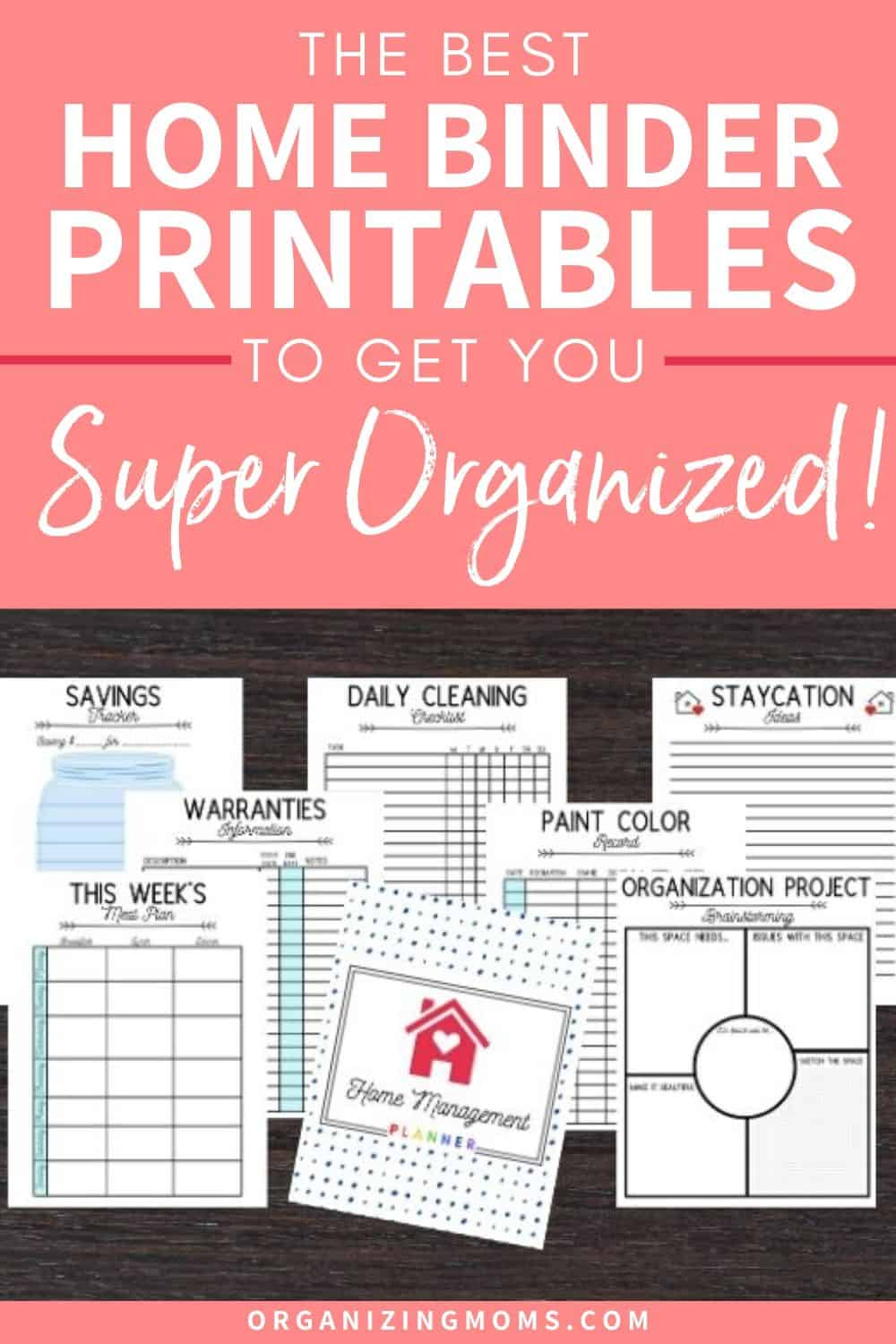 the best home management printables to get you super organized