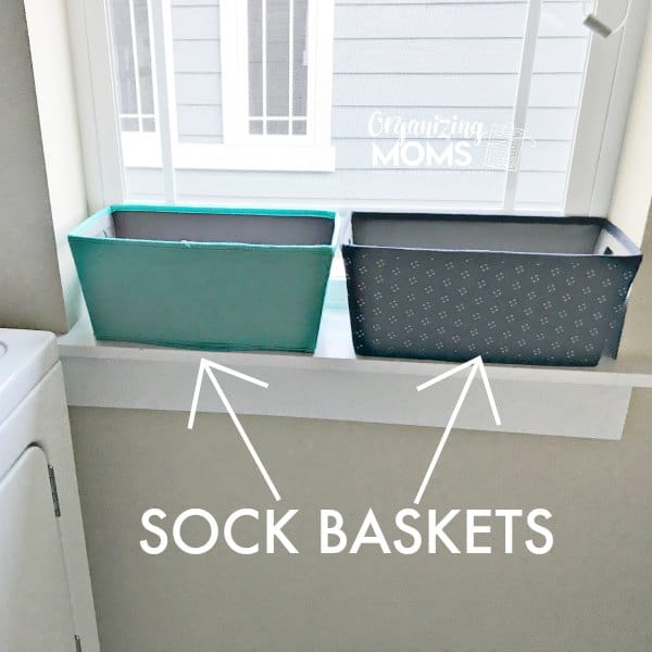 Use a sock basket to simplify laundry and organize socks.