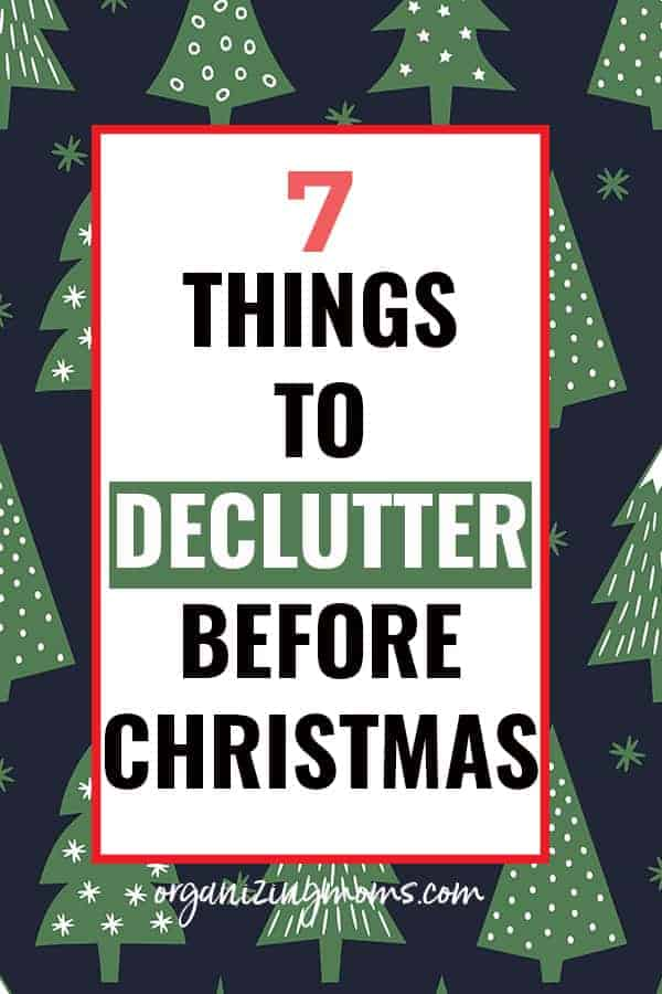 things to declutter before the holidays