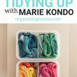 The best declutering tips learned in Tidying Up with Marie Kondo, which airs on Netflix. This show is full of practical ideas, motivation, and a proven technique to help you declutter and organize your home. Learn more about the Konmari method, this popular TV program and how it can help you start decluttering.