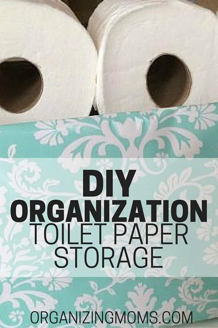 Diy organization toilet paper storage organizing moms for Diy toilet paper storage ideas