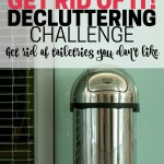 Make space in your bathroom by decluttering toiletries you don't like. Part of the Get Rid of It! Decluttering Challenge. Get rid of extra shampoos, lotions, and cosmetics.