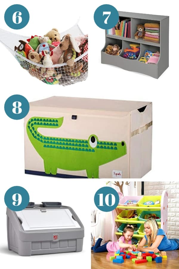 Playroom toy storage ideas and solutions you can get from Amazon.
