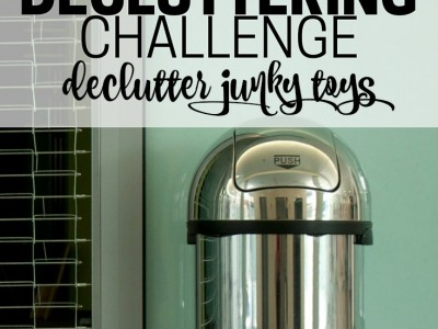 Have you let one too many Happy Meal toys into your home? Get rid of junky toys. Part of the Get Rid of It! Decluttering Challenge.