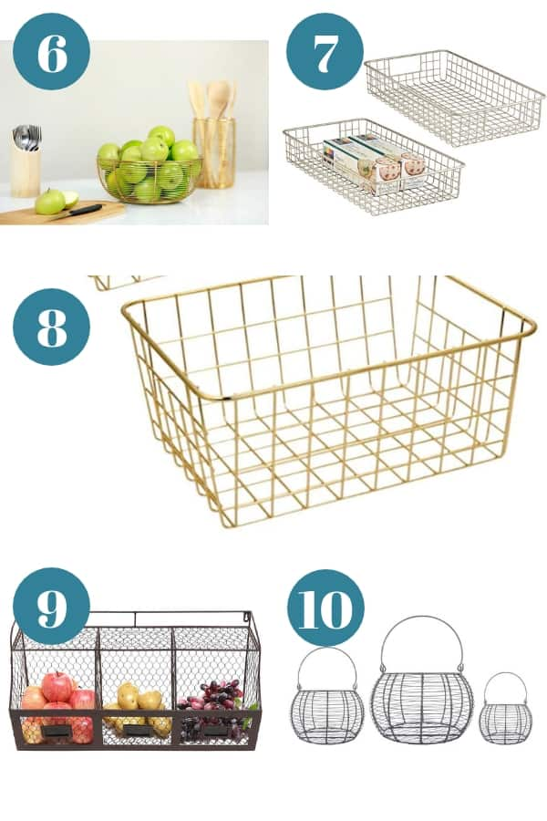 Organizing with wire baskets
