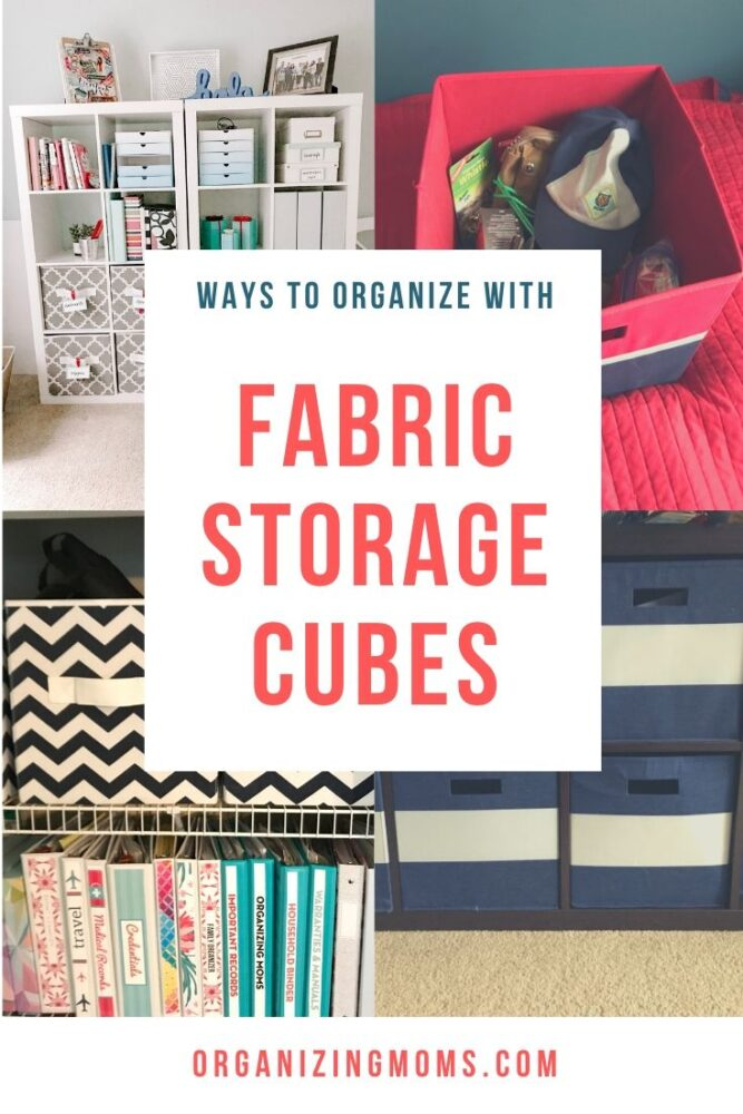 ways to organize with fabric storage cubes