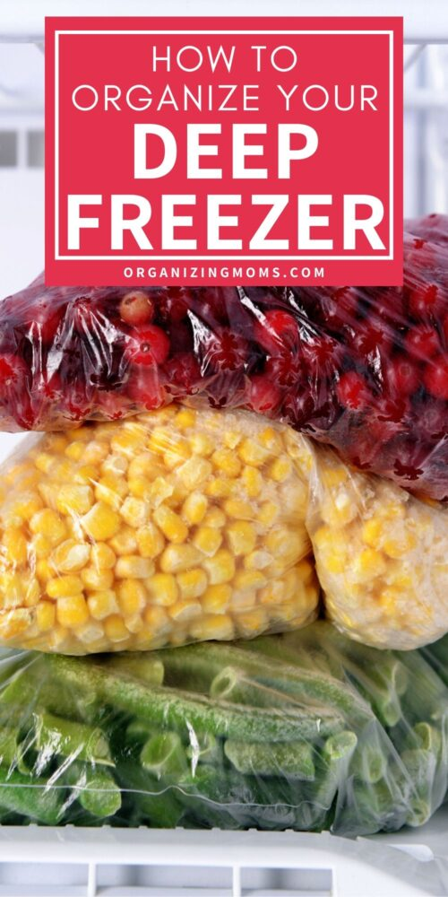 ways to organize your deep freeze