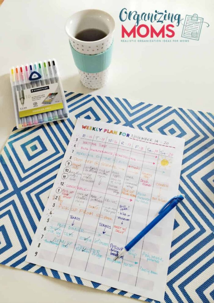 Take charge of your time with this weekly plan free printable.