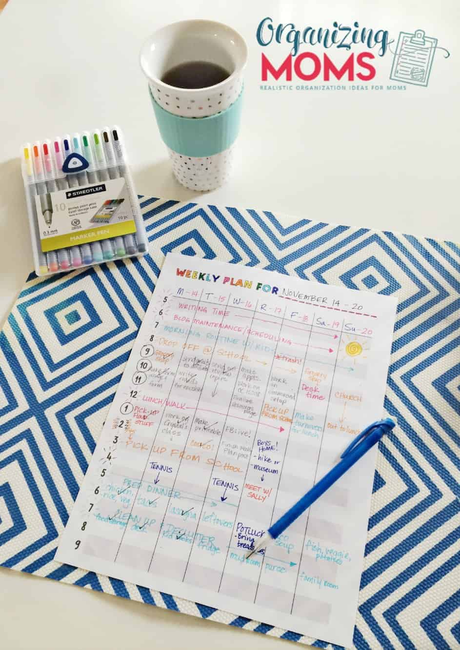 Take Charge of Your Time with a Weekly Plan
