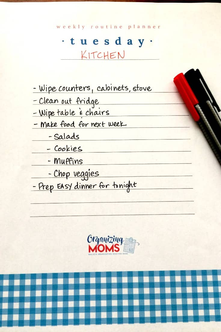 Make a weekly home management plan that actually works for you and your life.