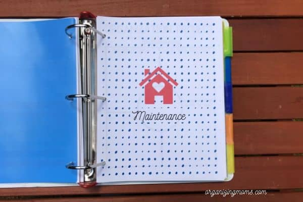 what to include in a home management binder