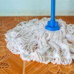 white mop tile floor