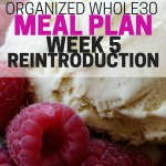 Organized Whole30 Meal Plan for Week 5, which includes the reintroduction of dairy.